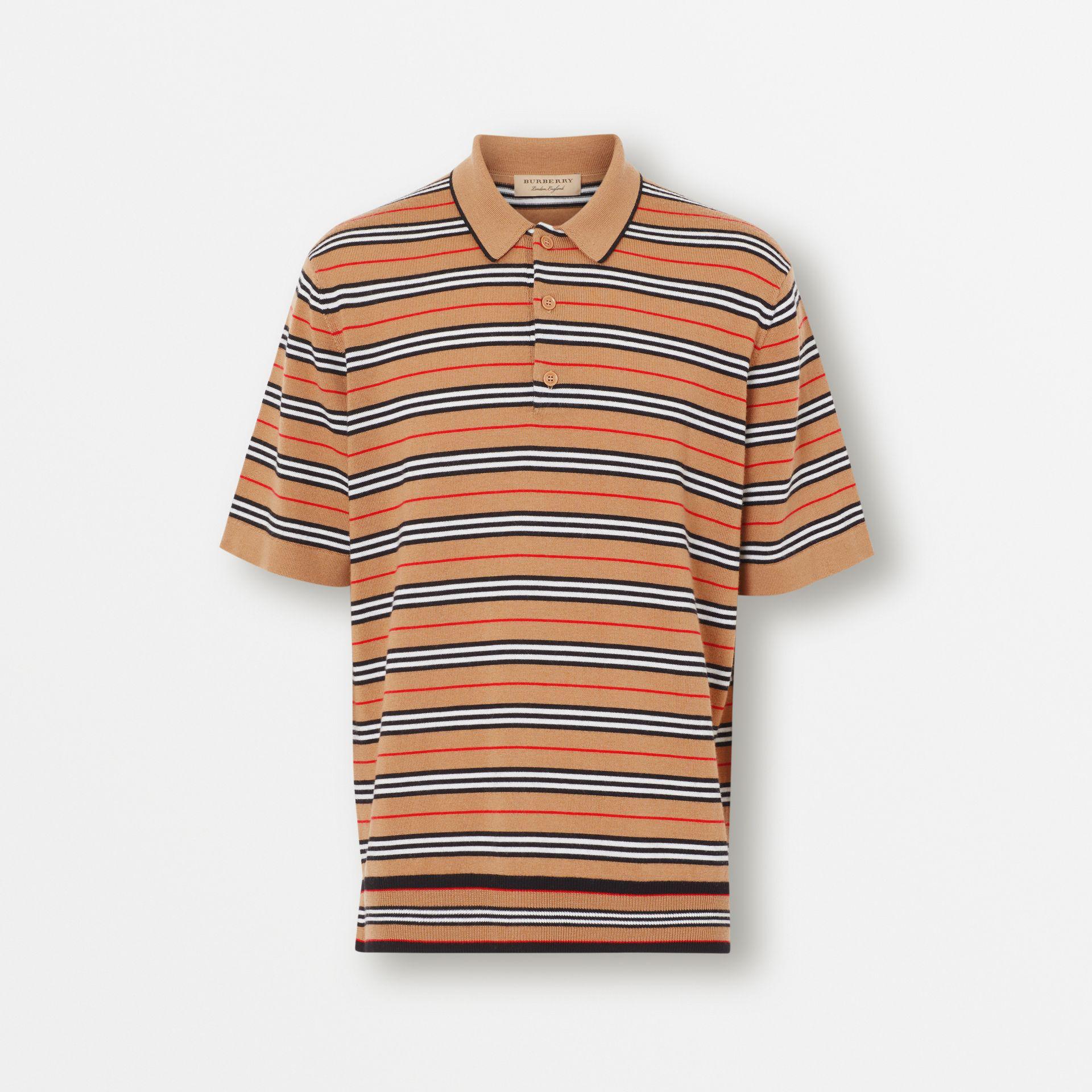 639e7189 Burberry Men's Beaford Striped Wool Polo Shirt In Yellow   ModeSens