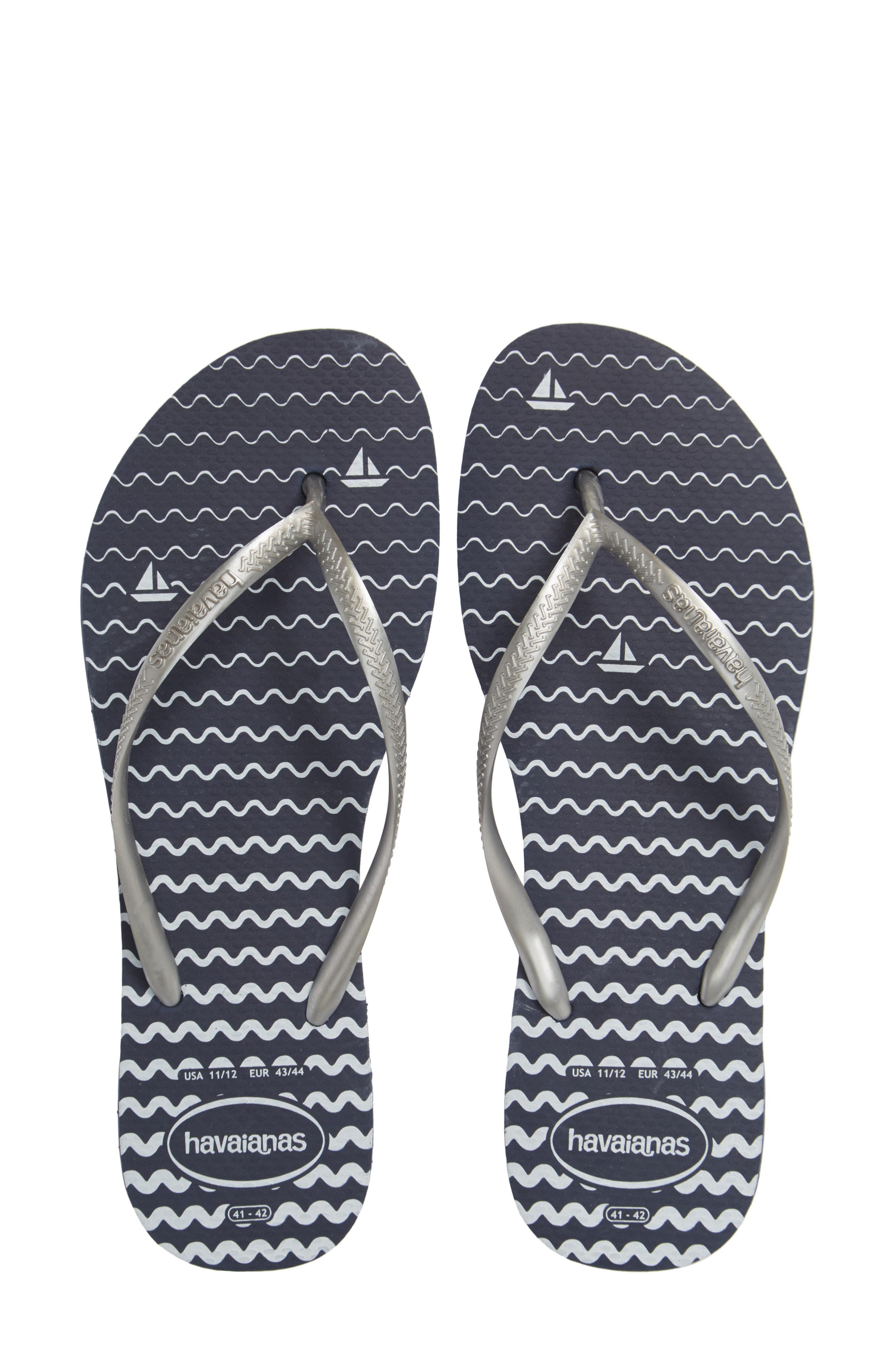 9a13aa347569 Havaianas Slim Oceano Flip Flop In Navy Blue