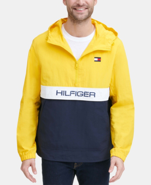34733af39 Men's Taslan Popover Jacket, Created For Macy's in Med Yellow