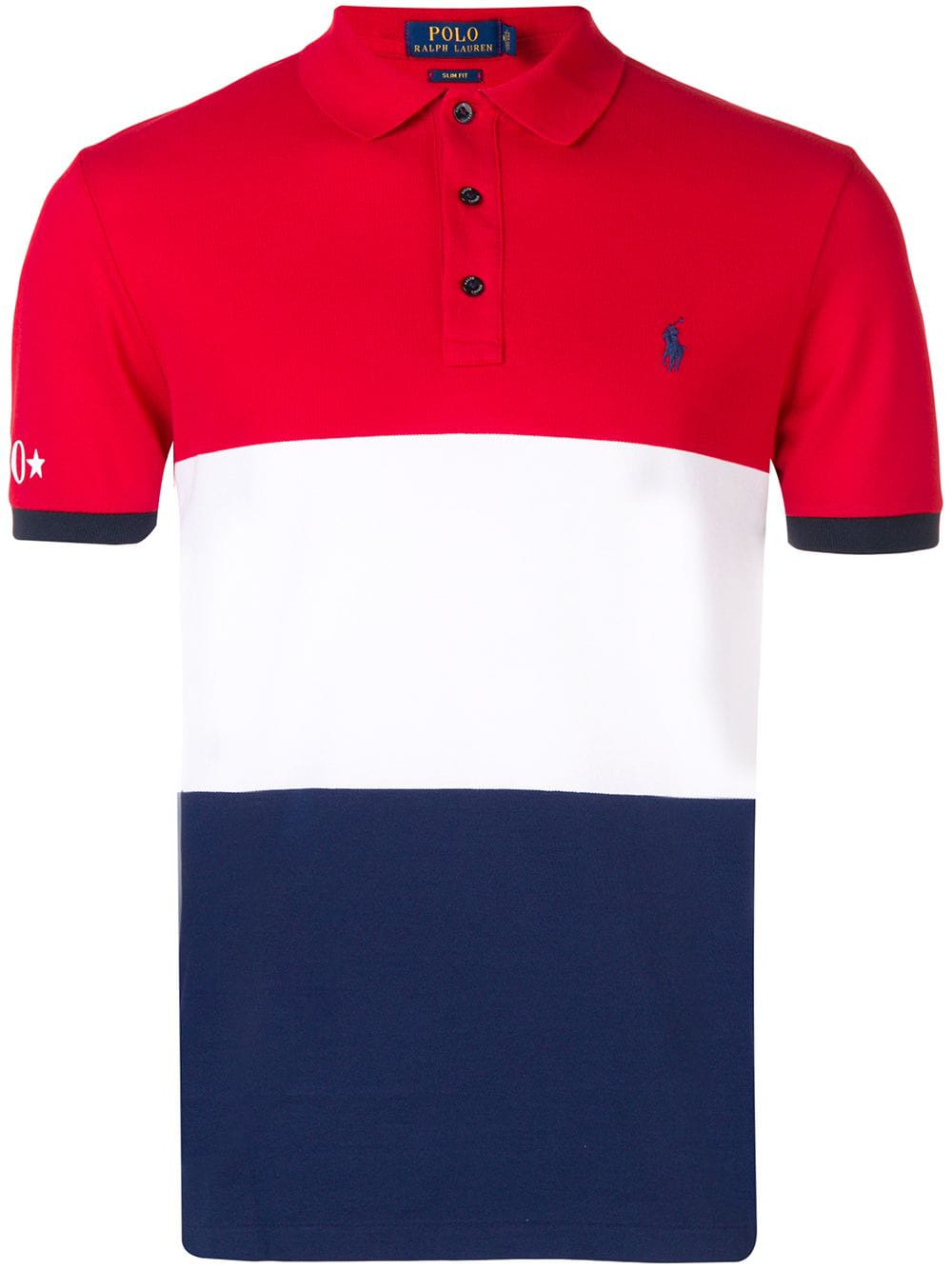 cheaper 9f755 68ec1 Polo Ralph Lauren Colour-Block Polo Shirt - Red