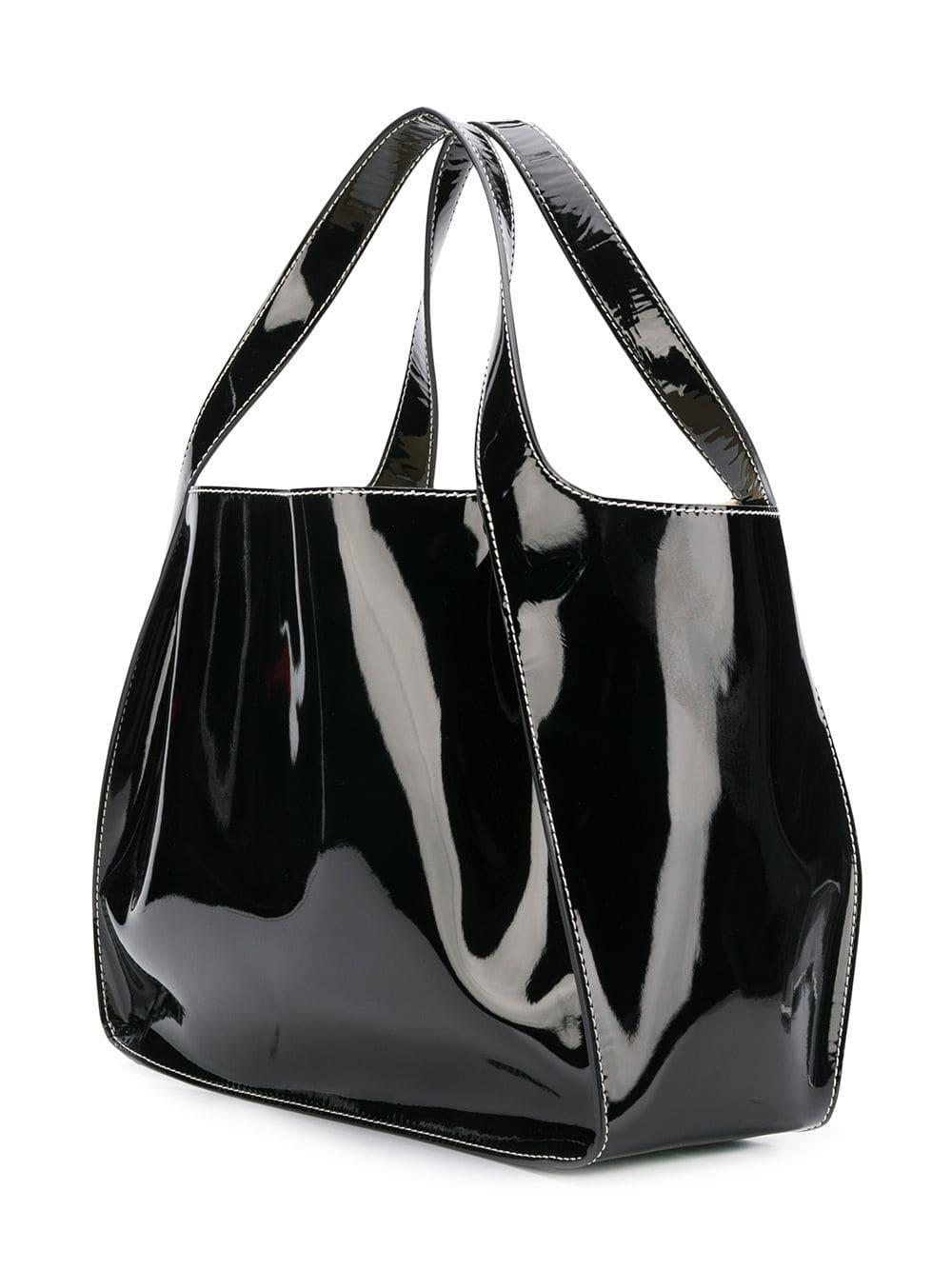 055b233bd999 Stella Mccartney Patent Alter Napa Logo Tote Bag