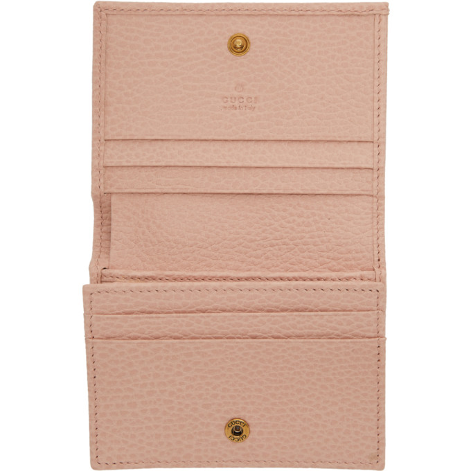 2ef6cbe654b517 Gucci Pink Butterfly Bifold Wallet In 5969 Pink | ModeSens
