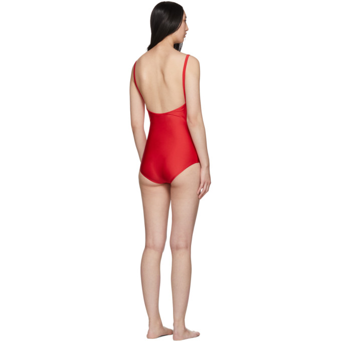 Gucci Red Sparkling One-Piece Swimsuit In 6287 Red