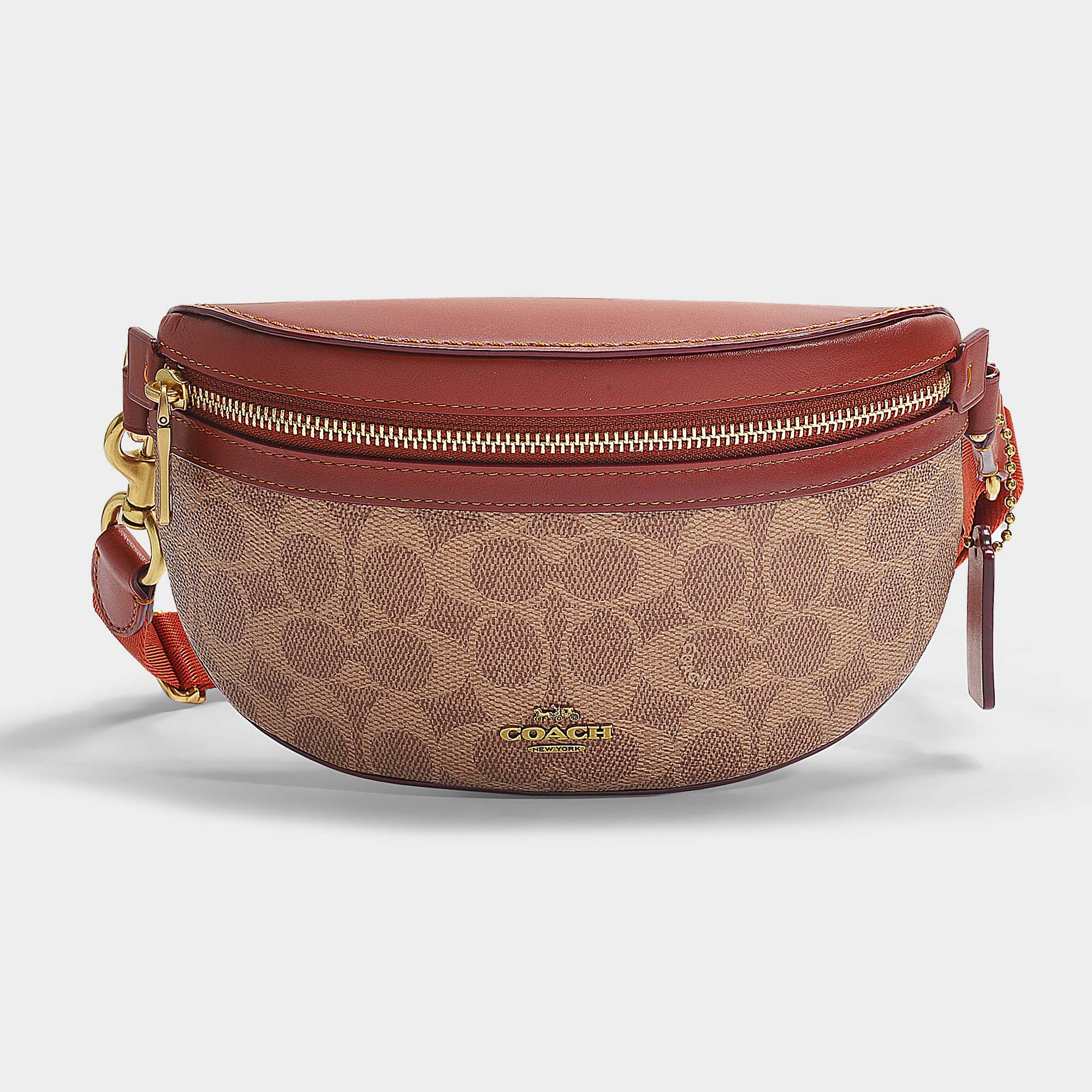 29e02bd6e46 Coach | Fanny Pack In Brown Signature Coated Canvas