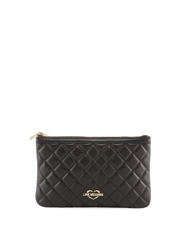 0ec42dae5638 Love Moschino Quilted Medium Crossbody Bag In Black