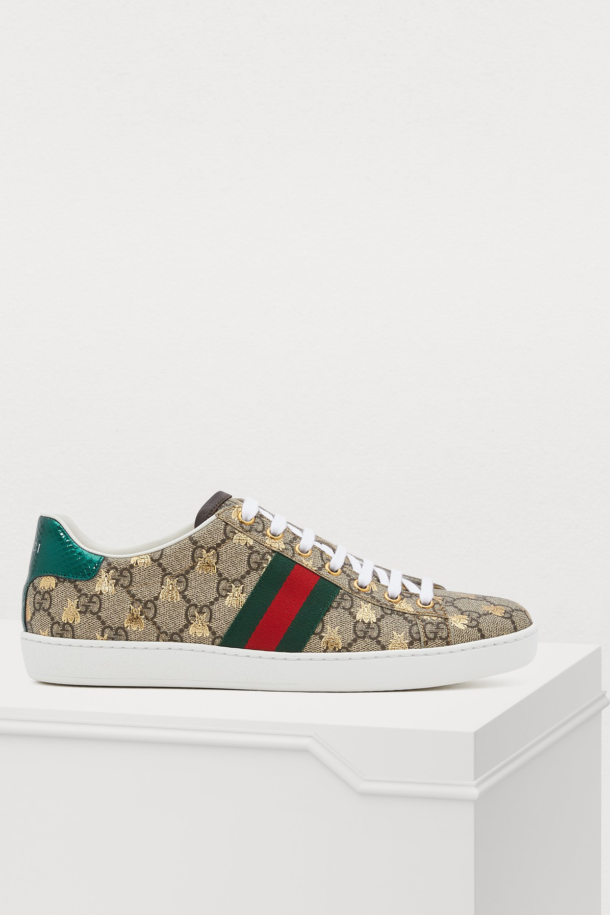 5a74cc17972 Gucci 20Mm New Ace Gg Supreme Canvas Sneakers In Neutrals