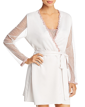 52744ba73 Flora Nikrooz Showstopper Charmeuse Cover-Up Robe In Pink Cloud ...