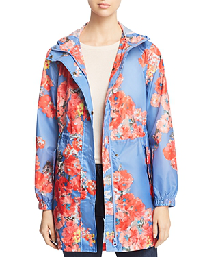 ad39456a60d Golightly Packable Floral Print Raincoat in Blue Floral