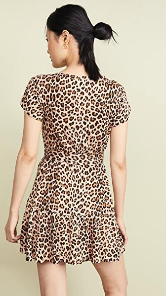 cdddd721913 Rebecca Taylor Tie-Front Linen Leopard-Print Short Dress In Biscuit ...