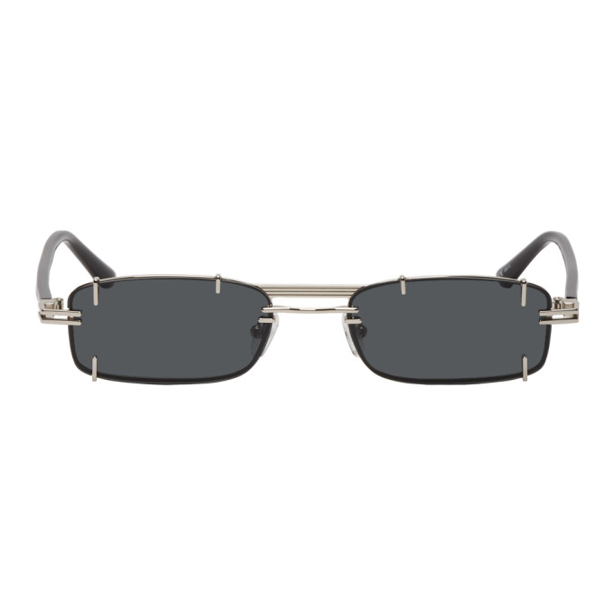 b4c437627ee Y Project Silver And Black Linda Farrow Edition Neo Sunglasses ...