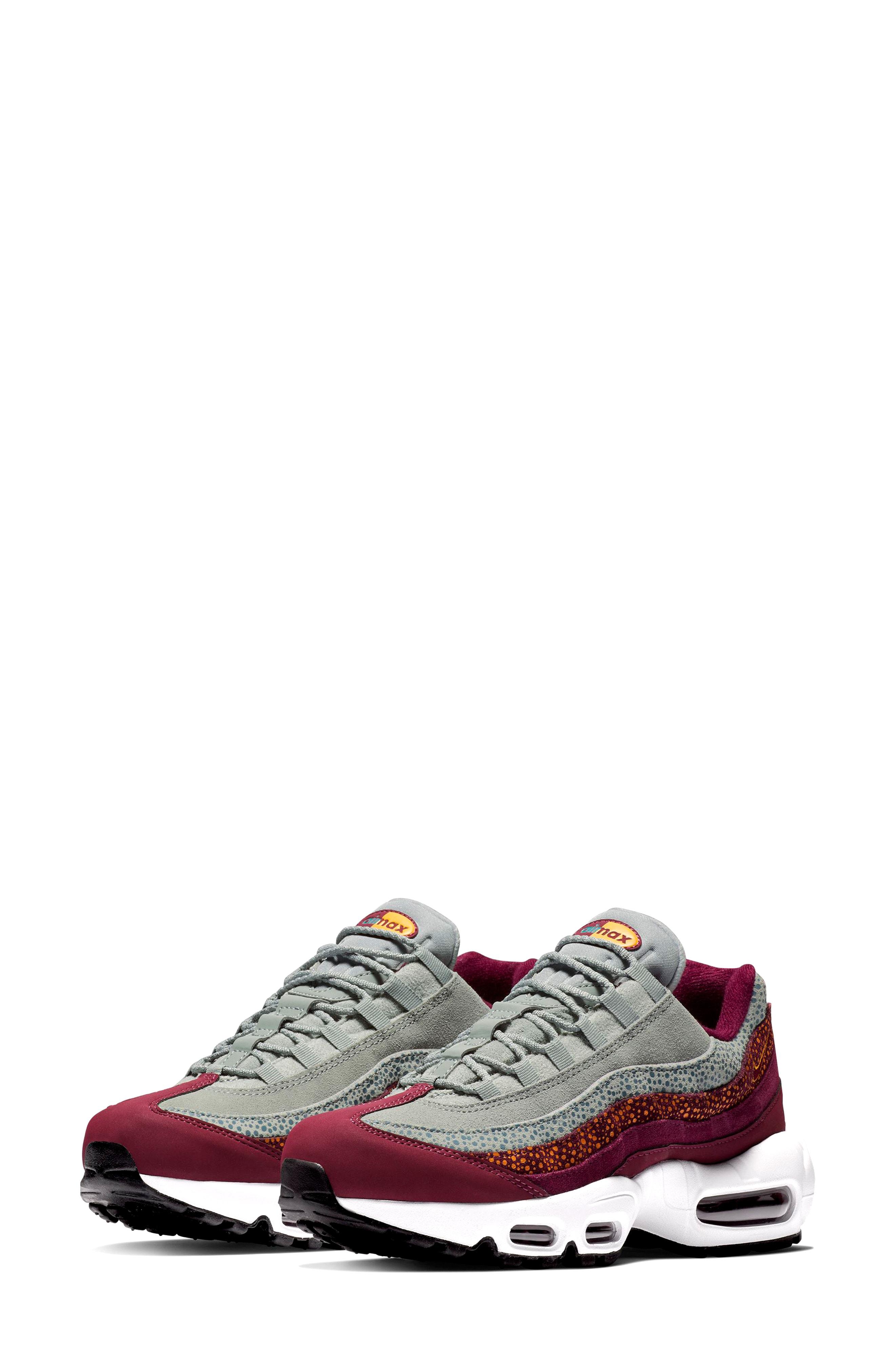 Nike Air Max 95 Premium Sneaker In Bordeaux/ Ochre/ Green/ Black ...