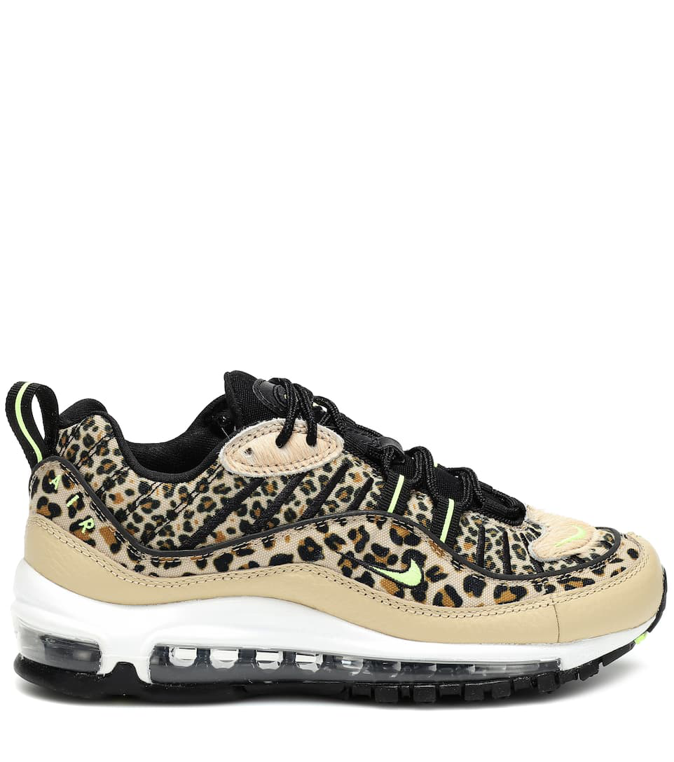 Air Max 98 Leopard Print Sneakers in Brown