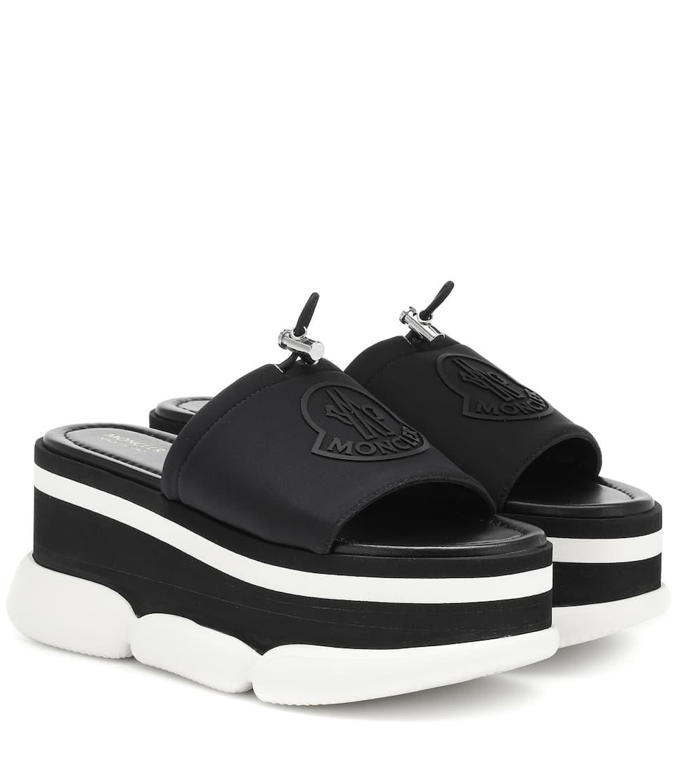 e64903318787 Moncler Zaira Platform Sandals In Black