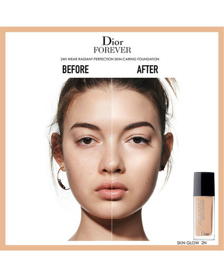 Dior Forever Skin Glow 24H* Wear Radiant Perfection Skin-Caring Foundation 2 Cool Rosy 1 Oz/ 30 Ml