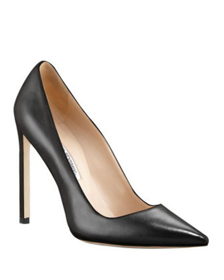 MANOLO BLAHNIK BB LEATHER 115MM PUMP,PROD220070117