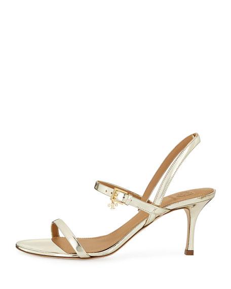 d00b26fe7c54 Tory Burch Women s Penelope Open-Toe Metallic Leather High-Heel Slingback  Sandals In Spark