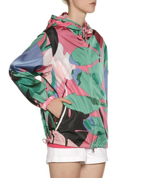 2f2661e43 Alexandrite Print Hooded Jacket in Green