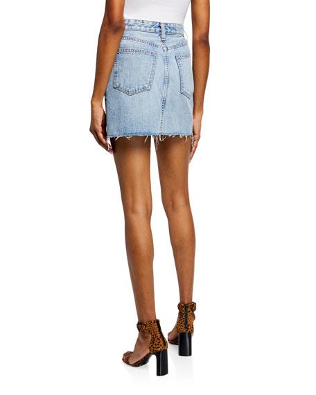 2a4fe9f2d Rag & Bone Anna Zip-Front Frayed Denim Mini Skirt In Mandy   ModeSens