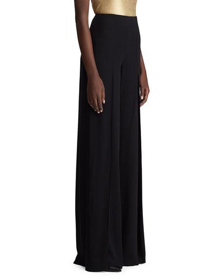 5e0791321b Ralph Lauren Fahmida Wide-Leg Palazzo Pants In Black | ModeSens