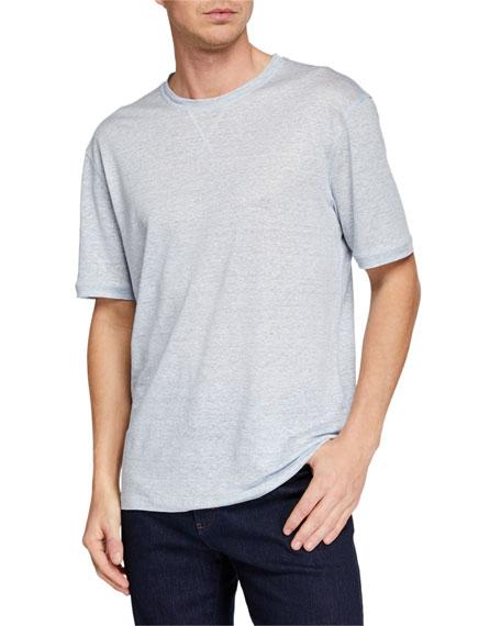 9471015350 Ermenegildo Zegna Men s Linen-Blend Heathered T-Shirt