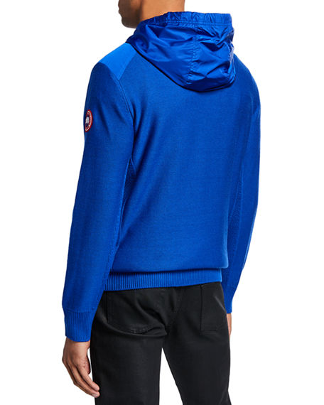 750925c35db Men's Ashcroft Wool Pullover Hoodie in Pacific Blue