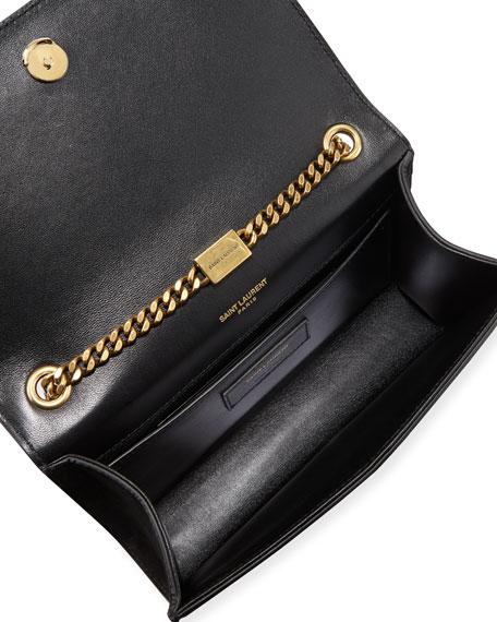 d1a48ea77 Saint Laurent Kate Monogram Ysl Small Star-Studded Suede Chain Crossbody Bag  In Noir