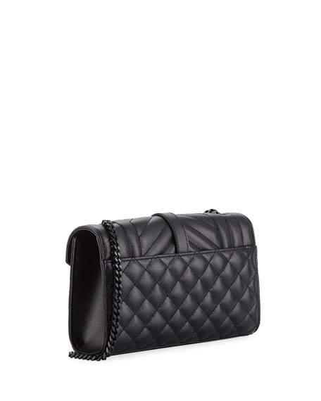 918c31074bf Saint Laurent Monogram Ysl Envelope Small Chain Shoulder Bag - Black  Hardware