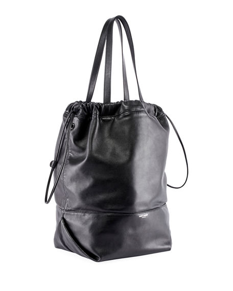 9e21ba63d Saint Laurent Harlem Leather Shopping Tote Bag - Black | ModeSens