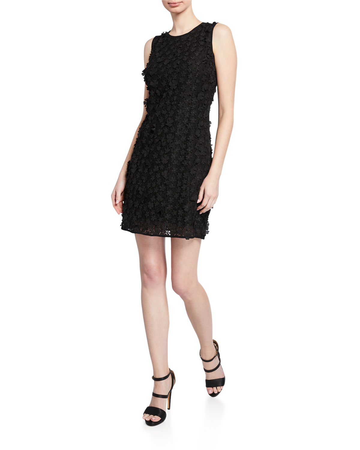 06a772f7 Karl Lagerfeld Floral Applique Lace Sheath Dress In Black | ModeSens