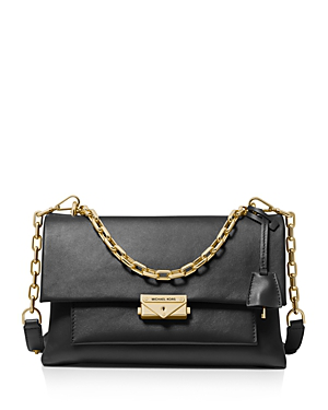 c32eb2f75e56 Michael Michael Kors Large Cece Leather Shoulder Bag In Black