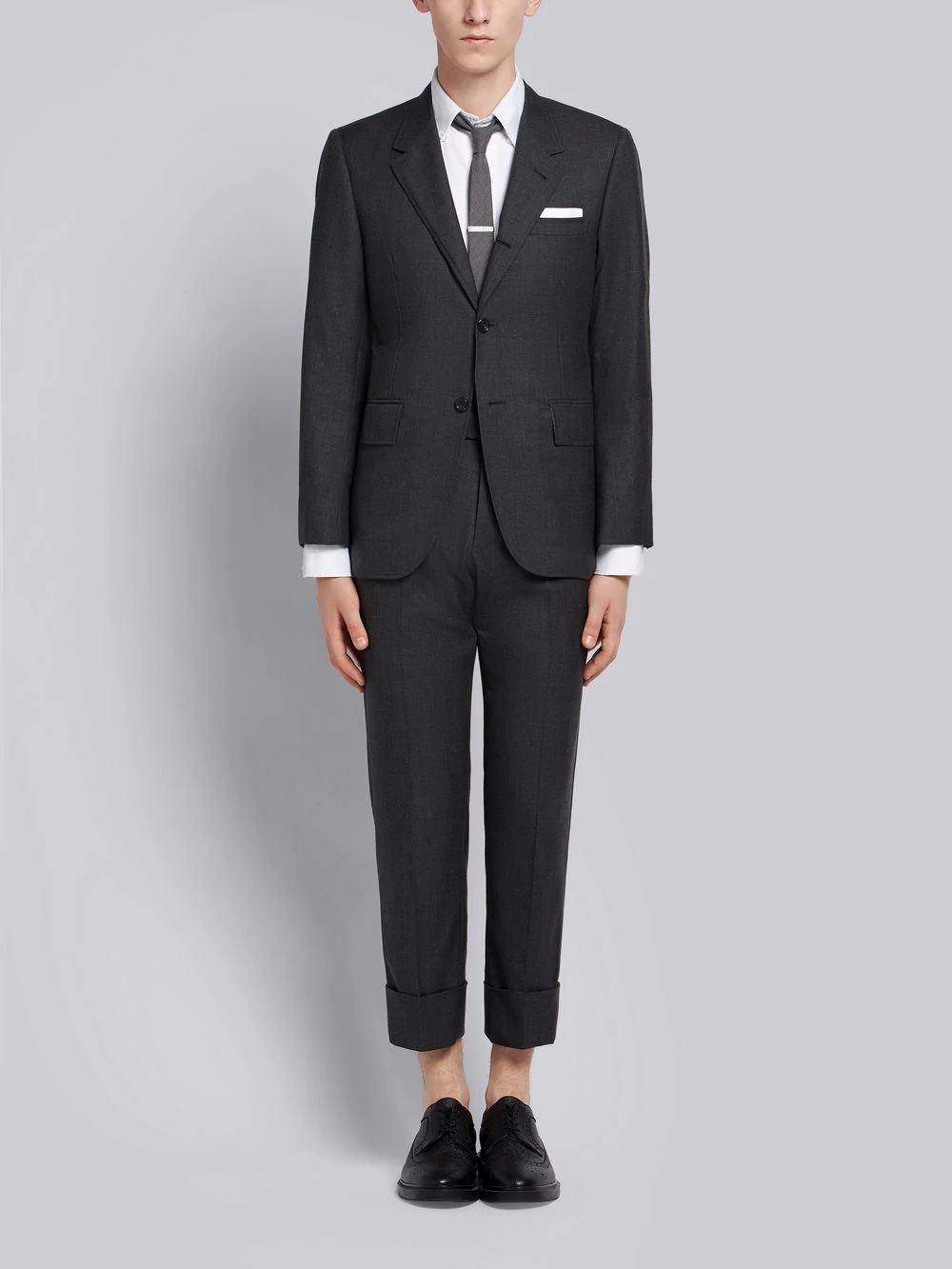 736772e51c Thom Browne Wide Lapel Suit With Tie In Grey   ModeSens