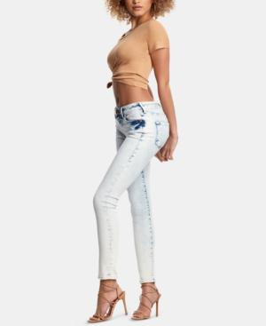 2cc8becdb True Religion Halle Mid Rise Skinny Jeans In Aurora Borealis