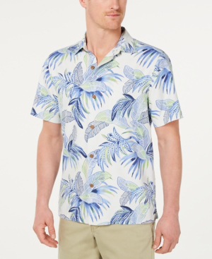 cfd19962 Tommy Bahama Men's Wallis Tropics Regular-Fit Islandzone Hawaiian Camp Shirt  In Twill