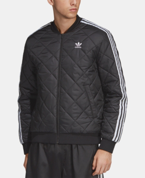 adidas originals Mens Superstar SST Classic Quilted Jacket Black Full Zip Coat