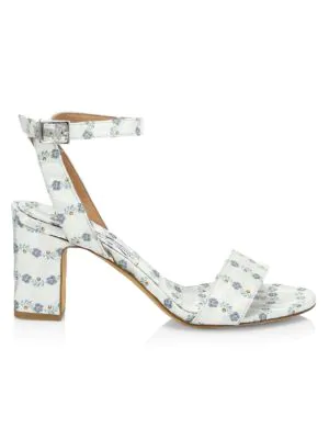 aba88531ecd4 Tabitha Simmons Leticia Floral Satin Block Heel Sandals In Light Blue
