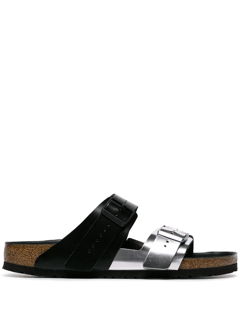 7db5216e90ce Rick Owens + Birkenstock Arizona Two-Tone Leather Sandals - Silver In Black