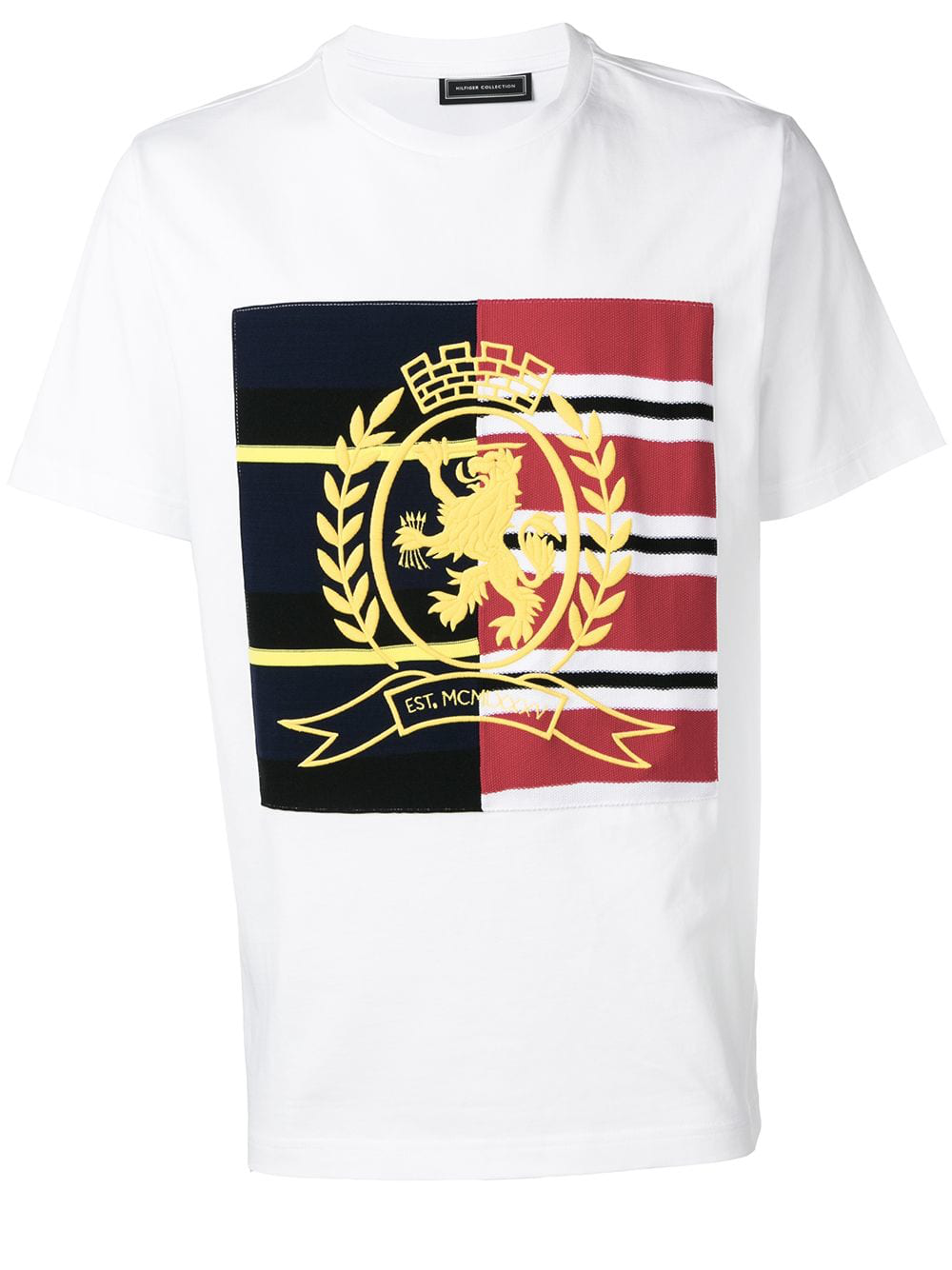 b220d408 Tommy Hilfiger Hilfiger Collection Embroidered Crest T-Shirt - White ...