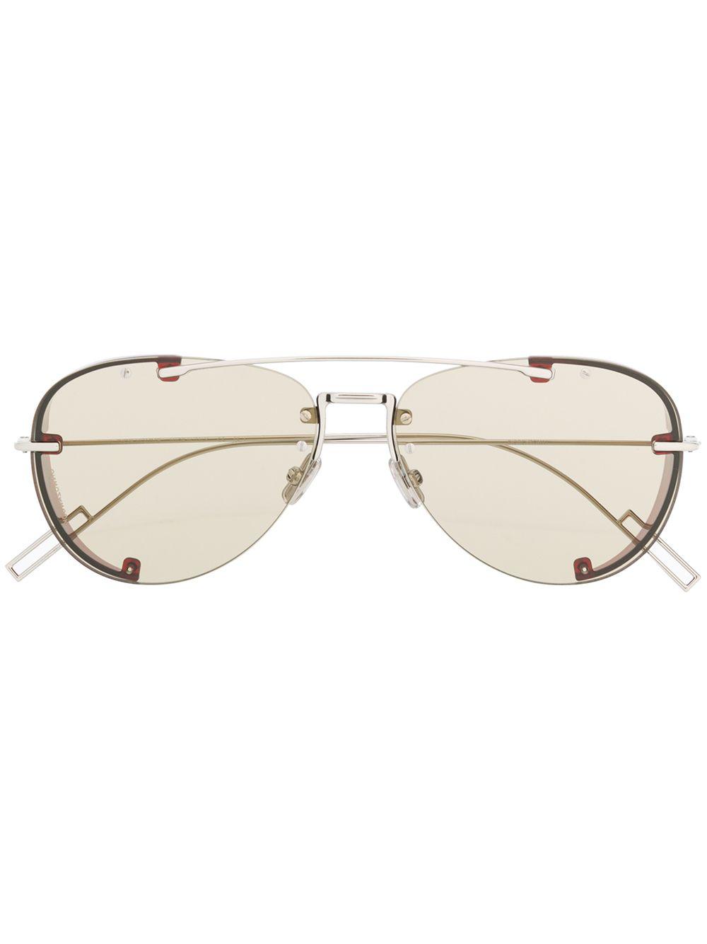 4d4c1e9ce7a7 Dior Eyewear Chroma1 Sunglasses - Silver   ModeSens