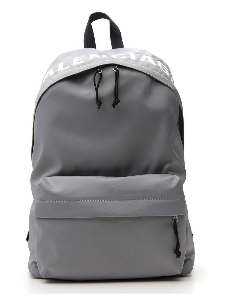 29cc37624e Balenciaga Grey Logo-Embroidered Nylon Backpack