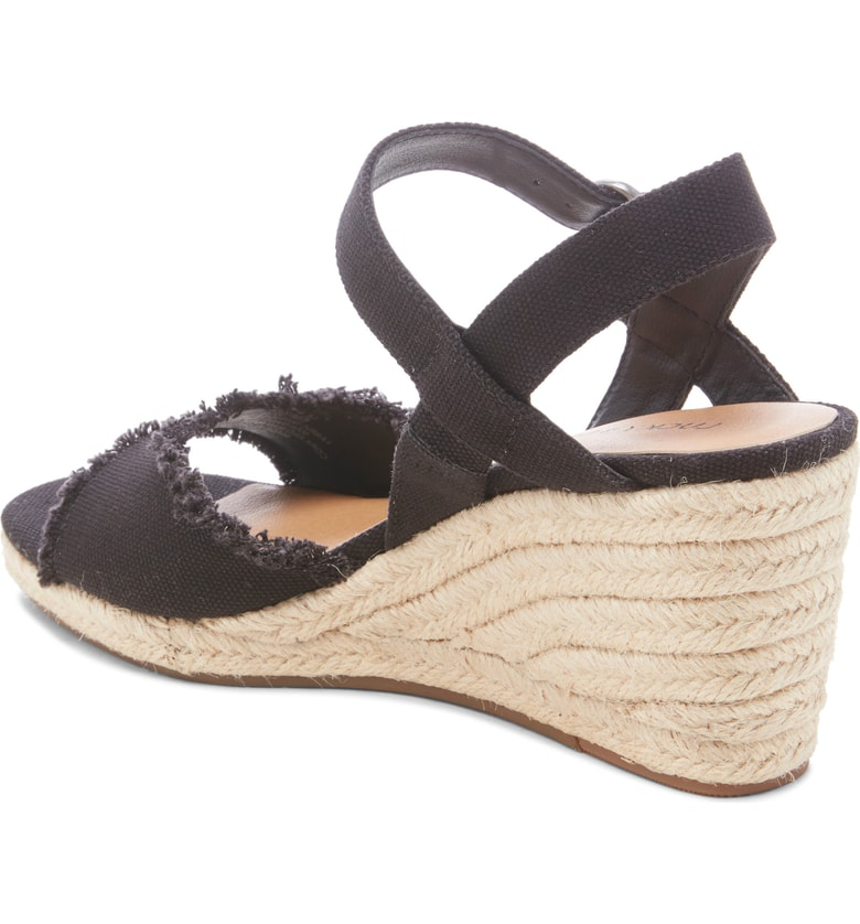 cffa1e0044c Lucky Brand Mindra Espadrille Wedge Sandal In Black Fabric