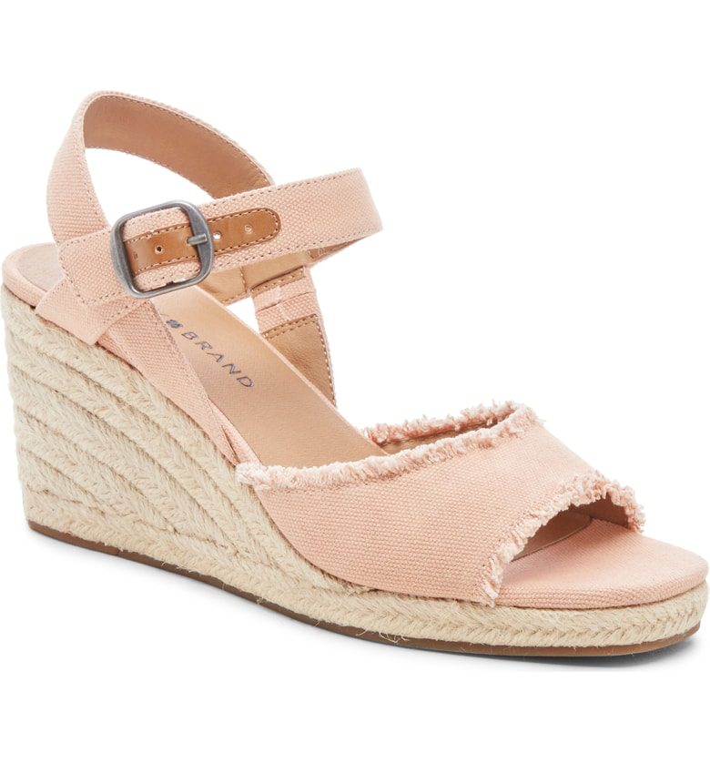 c89da71bf2c Lucky Brand Mindra Espadrille Wedge Sandal In Maple Sugar Fabric ...