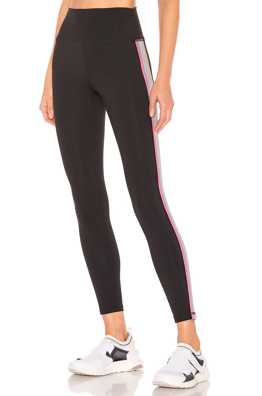 cf323b68b285f Spiritual Gangster Perfect Rainbow-Stripe Leggings In Black | ModeSens
