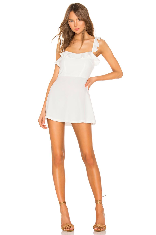 ca00894a7d0 Superdown Peyton Ruffle Cami Dress In White.