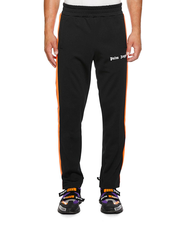 b086c68421fe6e Palm Angels Men'S Side-Stripe Track Pants In Black/Yellow | ModeSens