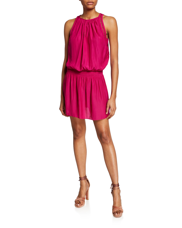 bc0a32f7e47a Ramy Brook Elda Smocked Waist Mini Dress In Fuchsia | ModeSens