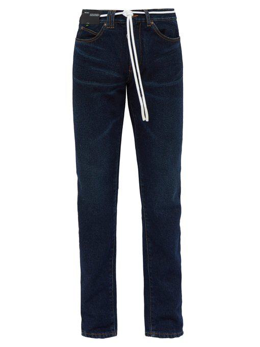 7c9995b1 Off-White - Side Stripe Straight Leg Jeans - Mens - Indigo
