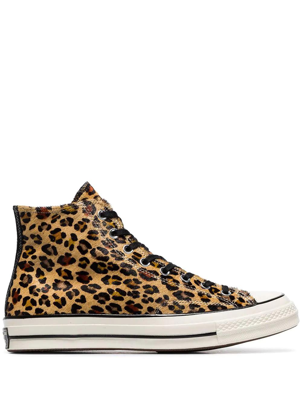 abbcccf17986 Converse 1970S Chuck Taylor All Star Leopard-Print Faux Calf Hair High-Top  Sneakers