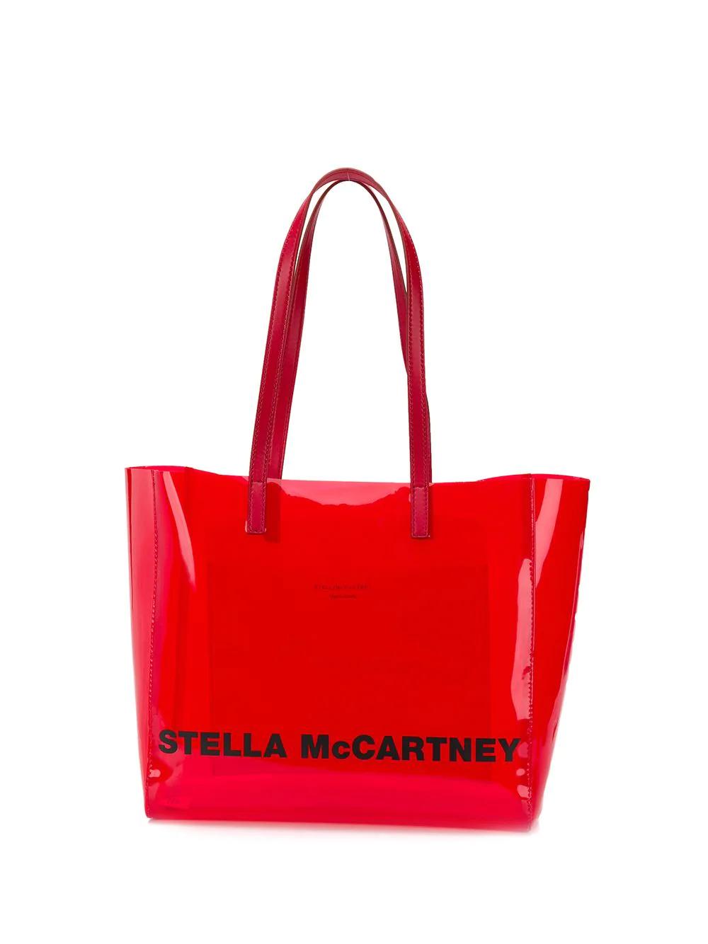 Stella Mccartney Logo Print Small Tote - Red  194bf72d150b5