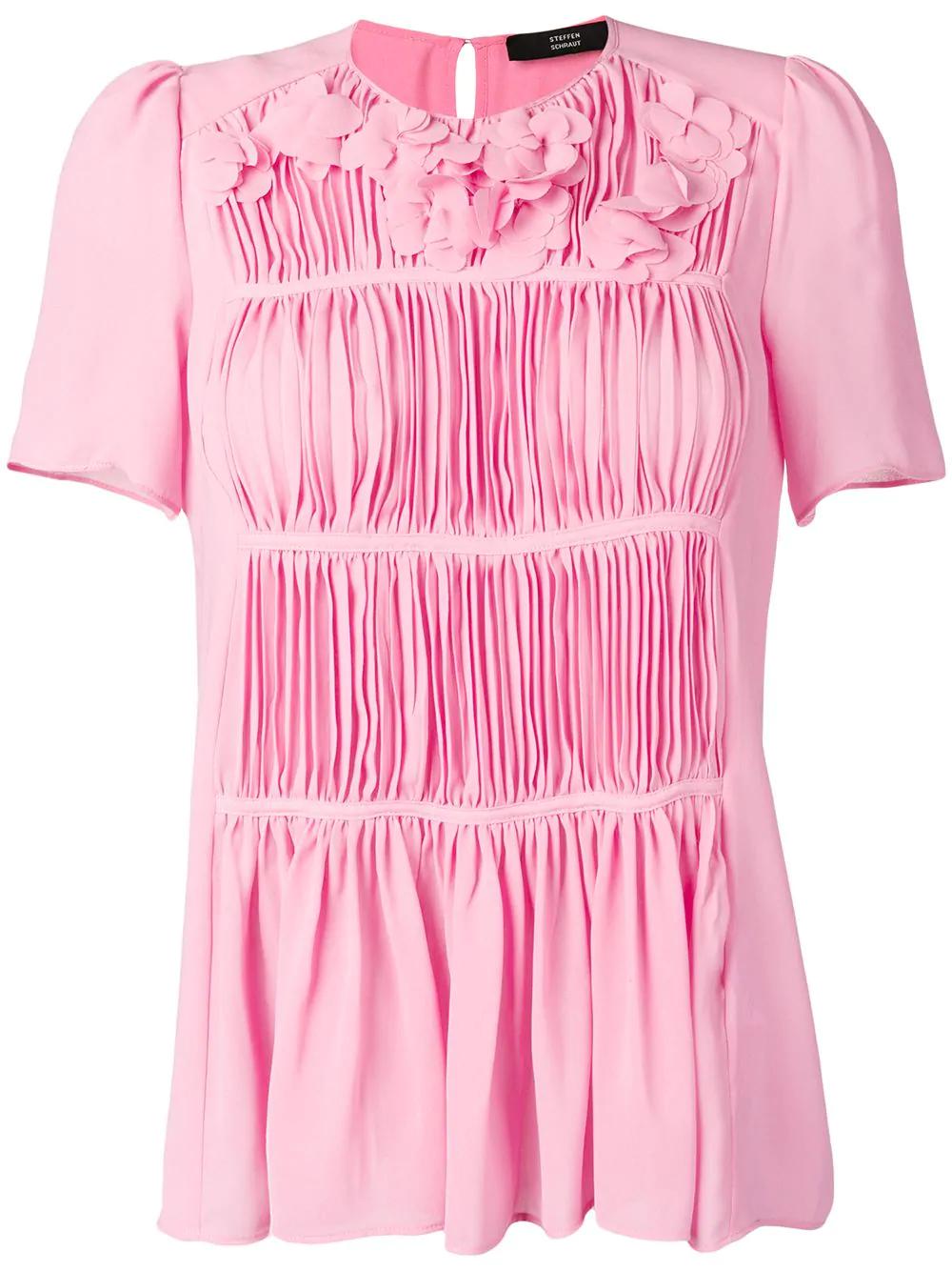 55728e538f53d Steffen Schraut Pleated Blouse - Pink