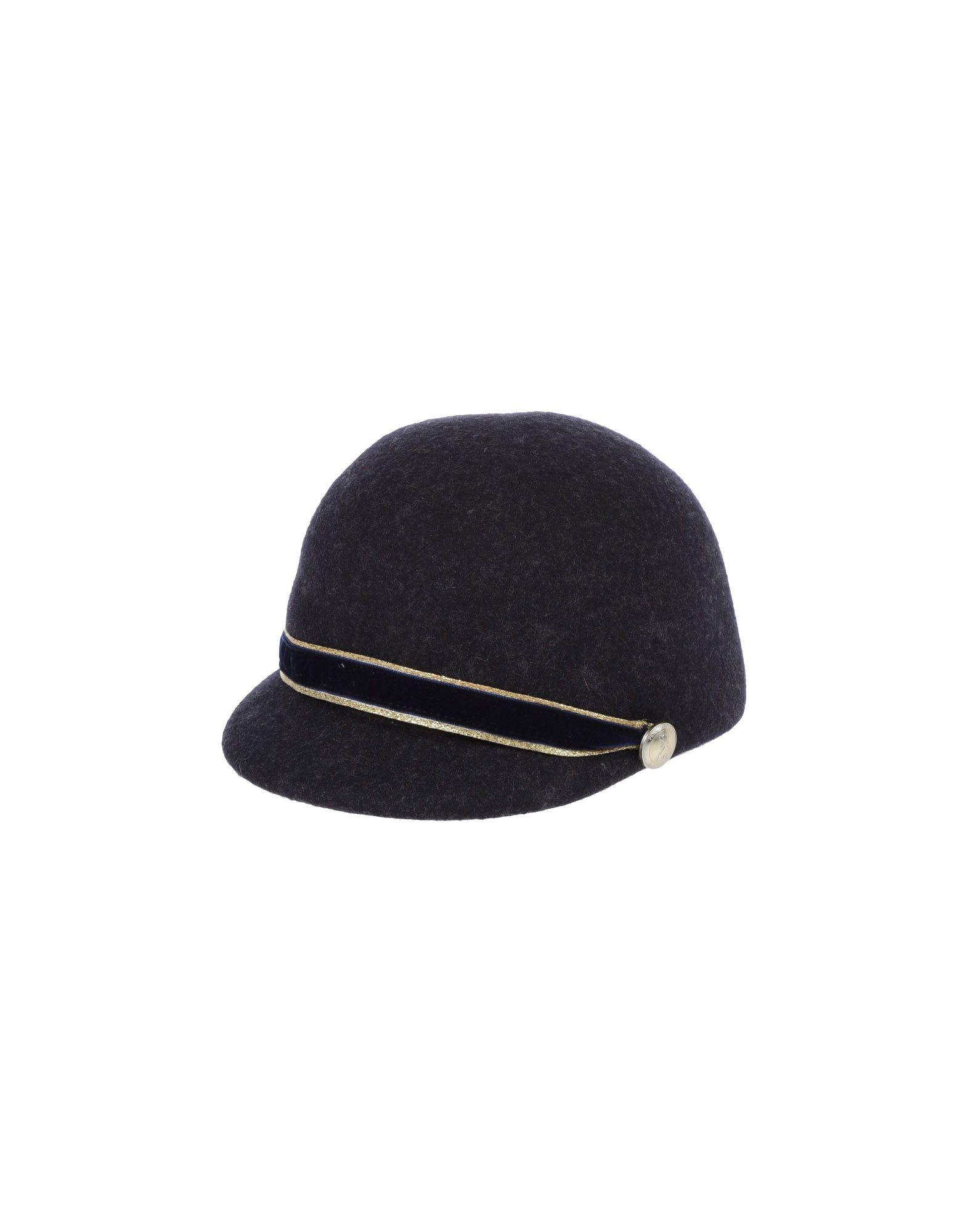 Patrizia Pepe Hats In Steel Grey  b752777ca81